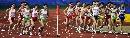图文:六城会女子5000米预赛 选手分为两个集团