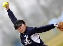 图文:城运女垒单循环第七轮 大连投手动作舒展