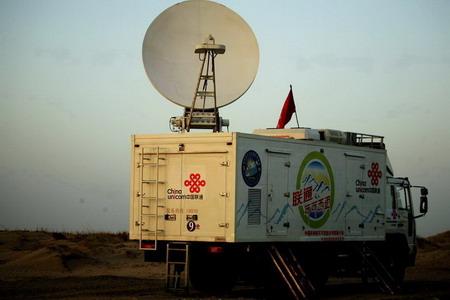 联通为2007年科考提供的卫星通信转播车