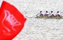图文:六城会男子2000米四人单桨 选手各司其责