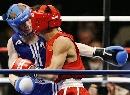 图文:拳击世锦赛第十日 谷雨近身攻击