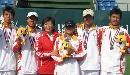 图文:六城会网球男双决赛 加教练一起大合影
