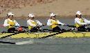 图文:武汉获女子2000米四人单桨冠军 交错发力