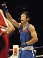 图文:拳击世锦赛邹市明晋级决赛 获胜后的庆祝
