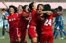 图文:南通队胜广州夺六城会女足季军 无比激动