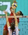图文:意大利女排3-0多米尼加 单人拦网收奇效
