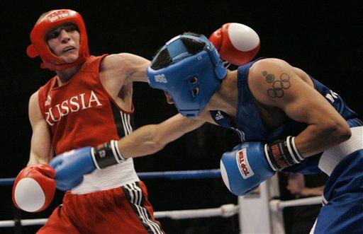 图文:[拳击]11级别冠军照 54KG级沃多普扬诺夫