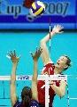 图文:女排世界杯美国3-1波兰 格林卡超手怒扣