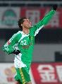 图文:[中超]北京国安2-0天津 堤亚哥庆祝进球