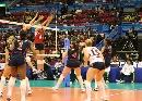 图文:女排世界杯美国3-1波兰 波兰女排拦网得分