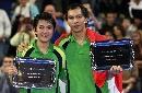 图文:林培雷/玛丽萨击败中国选手 夺混双冠军