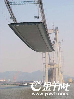 珠江黄埔大桥春节前可竣工