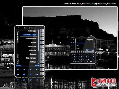 全触摸操作 索尼爱立信P5i真机图曝光