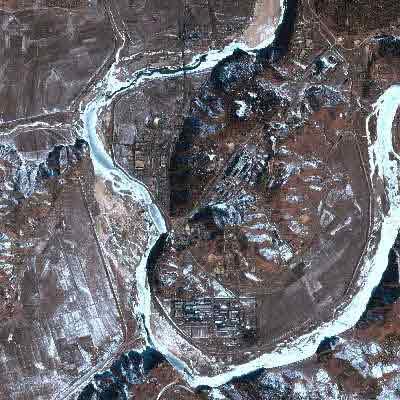拍摄于2002年2月的朝鲜宁边核设施卫星图片。CFP图