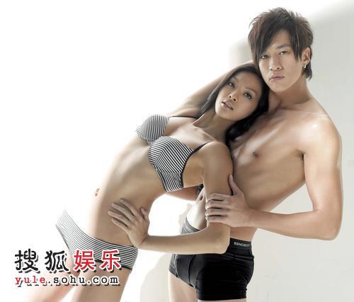 何润东此前曾同瞿颖拍摄过火辣广告,这次搭配的对象是台湾名模林嘉绮