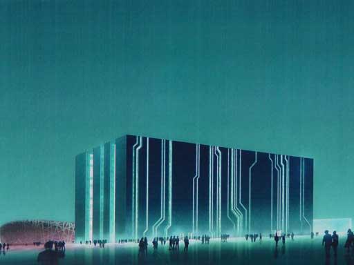 图为数字北京大厦总体设计
