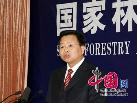 国家林业局新闻发言人曹清尧  摄影 中国网 张琳