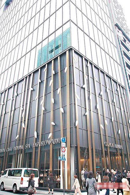 Armani巨资打造以竹为外观的Ginza Tower,将成东京时尚新地标。