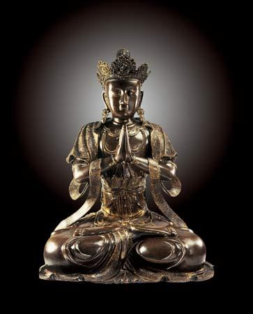 元末至明洪武时期铸造的观音菩萨铜像