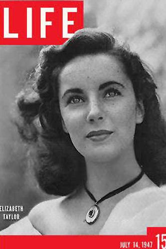 1947年 伊丽莎白-泰勒首《LIFE》封面