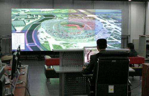 北京奥运会各场馆消防设施体系完备可靠 官方网站李威摄