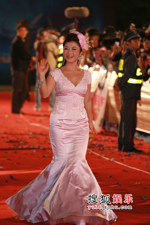 青年歌手刘媛媛走红毯图片