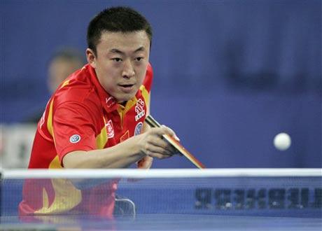 图文:德国乒乓球公开赛 马琳男单决赛负于马龙