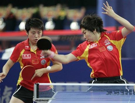 图文:德国乒乓球公开赛 郭跃/李晓霞女双夺冠