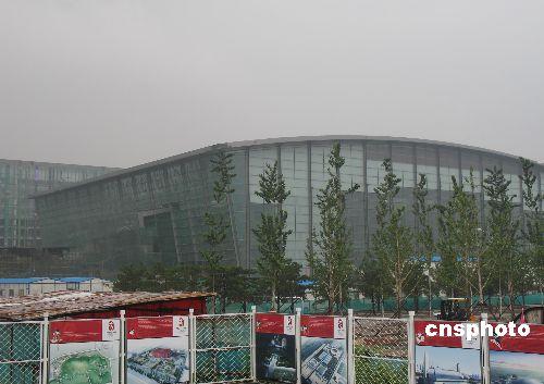 2007年8月7日 正在建设中的北京国家体育馆