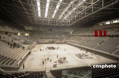 2007年10月国家体育馆工程进入全面竣工验收阶段