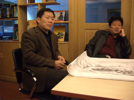 """""""爱心2008""""—《中华奥运梦》大型公益活动组委会秘书长刘军在研讨会现场。"""