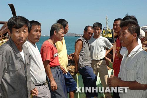 11月13日,这是中国船员抵达港口。