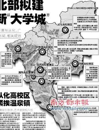 """广州北部拟建两个新""""大学城"""""""