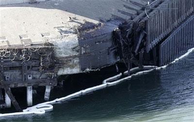 22万升的重油泄漏进旧金山湾区。