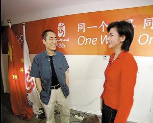 张艺谋接受凤凰卫视主持人吴晓莉采访