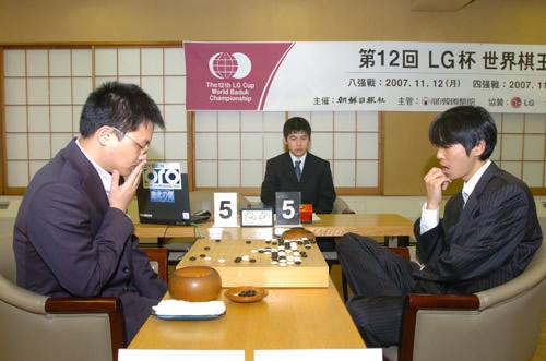 图文:第12届LG杯棋王战半决赛 胡耀宇战李世石
