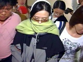 萧淑慎被逮捕时的样子