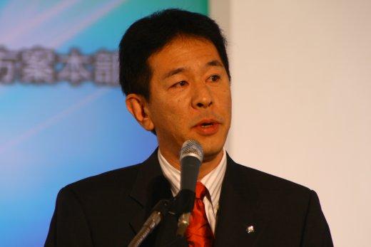 佳能亚洲商务影像方案总部高级总经理镰田笃先生致辞