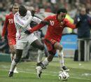 图文:[热身赛]法国2-2摩洛哥 图拉姆老当益壮