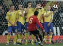 图文:欧预赛西班牙3-0瑞典 哈维百步穿杨
