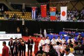图文:2007柔道团体世锦赛 五星红旗冉冉升起