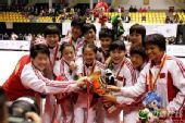 图文:2007柔道团体世锦赛 中国夺冠后合影庆祝