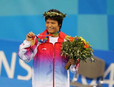 图文:08奥运会中国希望之冼东妹 笑容满面