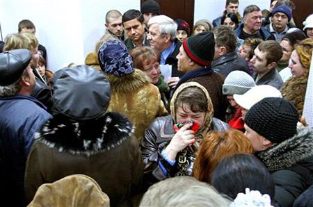 11月18日,扎夏德科煤矿的官员在宣布遇难矿工名单。