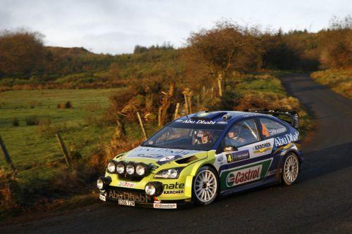 图文:[WRC]勒布称雄爱尔兰站 希尔沃宁平稳过弯