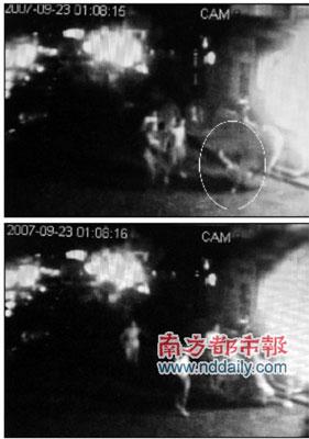 金景花园小区监控录像将康永昌被打的过程全部记录了下来。