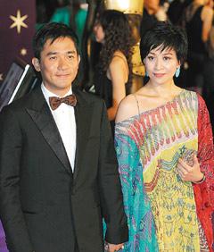 刘嘉玲(右)今年会不会陪梁朝伟出席金马奖颁奖典礼,是一大焦点。