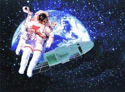 神七航天员有望首次太空漫步。(图片来自:北方网)