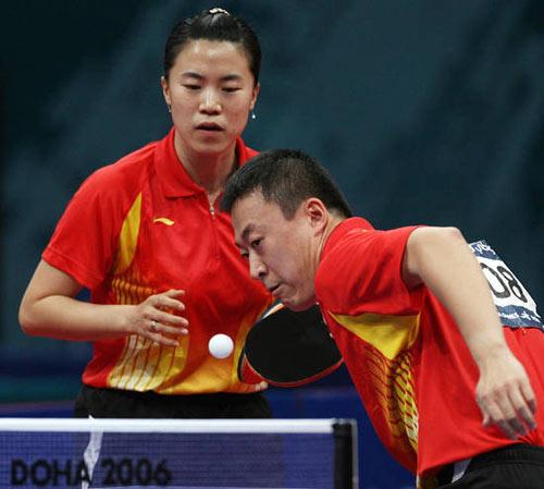 图文:三次大败马琳拿啥赌奥运 和王楠搭档