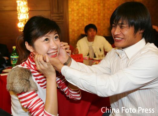 杜震宇与女友